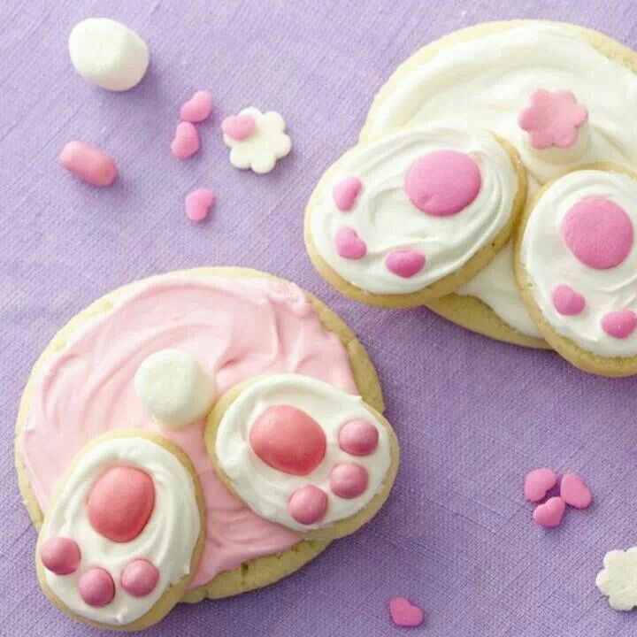 Bunny bottom cookies... Too freaking cute!!