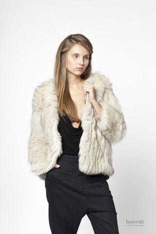 silver-white fox jacket – horovitz