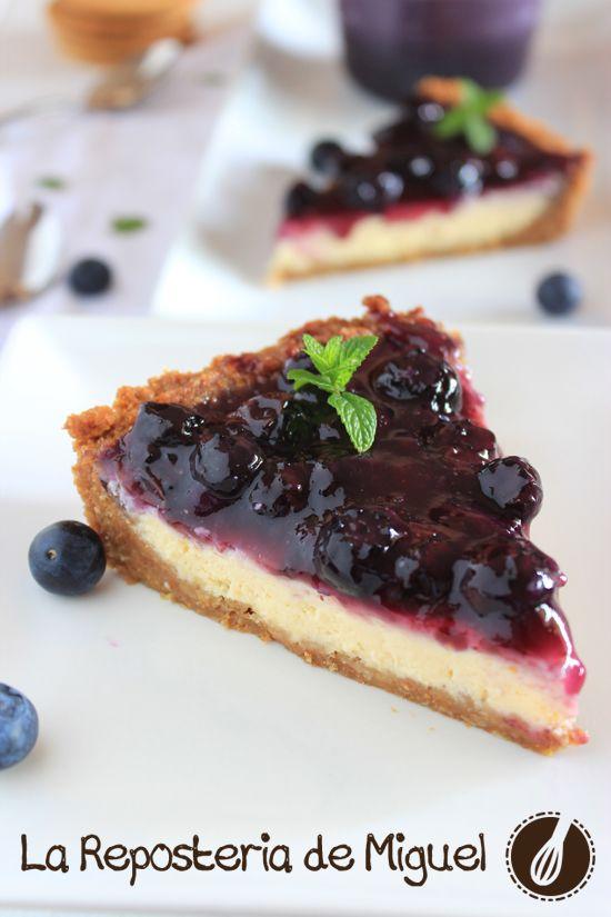 Tarta de Queso y Arándanos | La Repostería de Miguel (sin yogur)