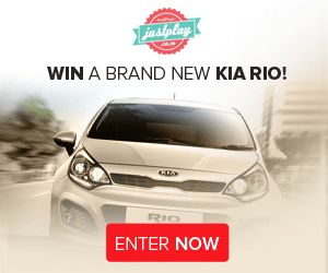 Why buy a New Car when you can Win one Is your car showing its age and due for replacement, but you really can't afford a new one? Take a chance and enter Justplay's competition for a free car and you could win a brand new Kia Rio.  http://www.productfundi.co.za/win-a-car-south-africa-kia-rio-justplay.html