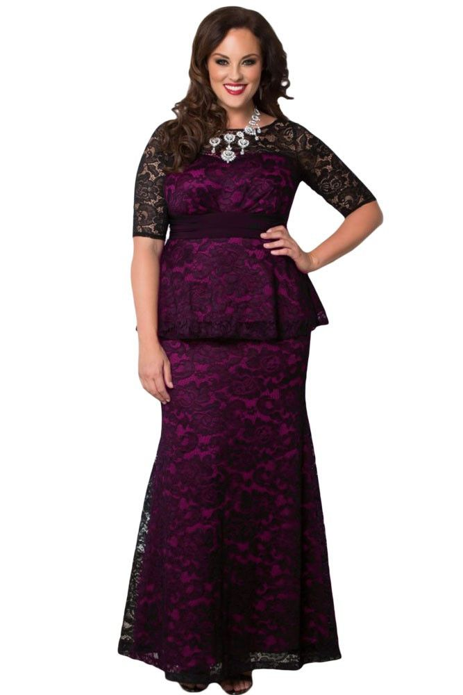 Lace maxi Dress Wedding dress at Bling Brides Bouquet - Online Bridal Store