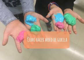 Una receta muy fácil y rápida en la que con cosas de casa podemos conseguir un moco de gorila asqueroso y pegajoso que les encanta a los niños.