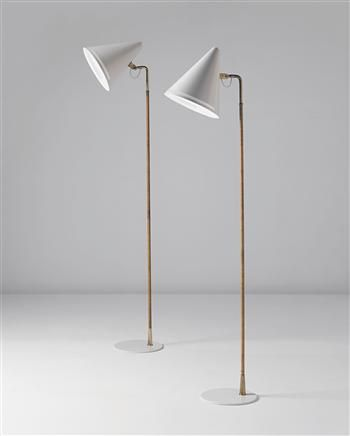 PAAVO TYNELL floor lamps. Paavo Tynell, Standard Lamps for Taito Oy, 1940s.