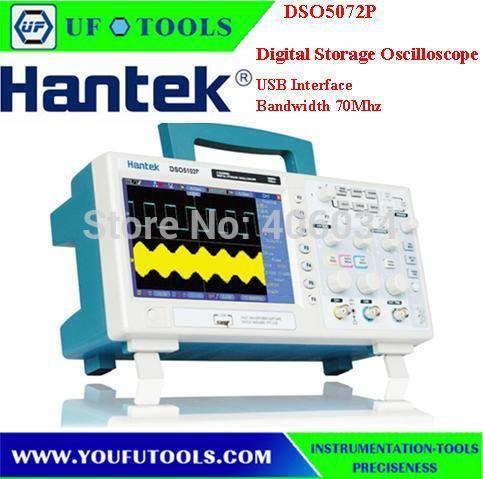 Hantek DSO5072P LCD Deep Memory 70MHz Bandwidths Digital Storage Oscilloscope