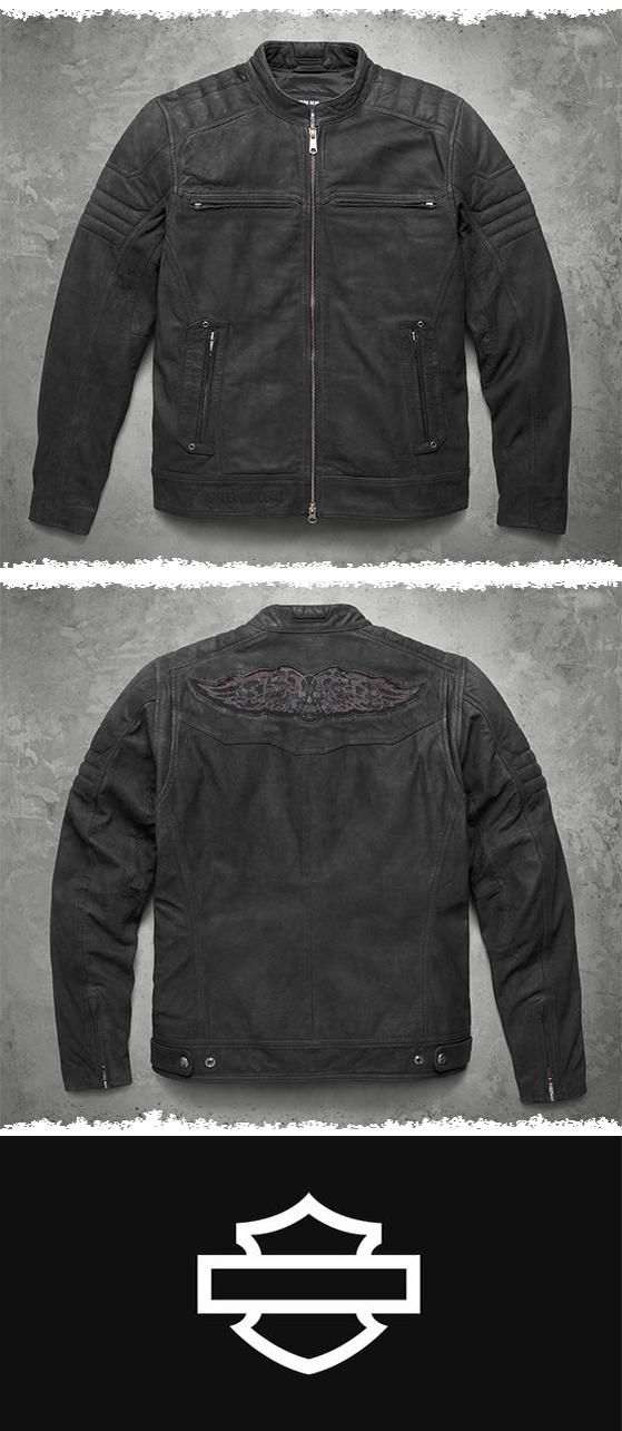 This one is all about the leather. | Harley-Davidson Men's Thornton Buffed Leather Jacket