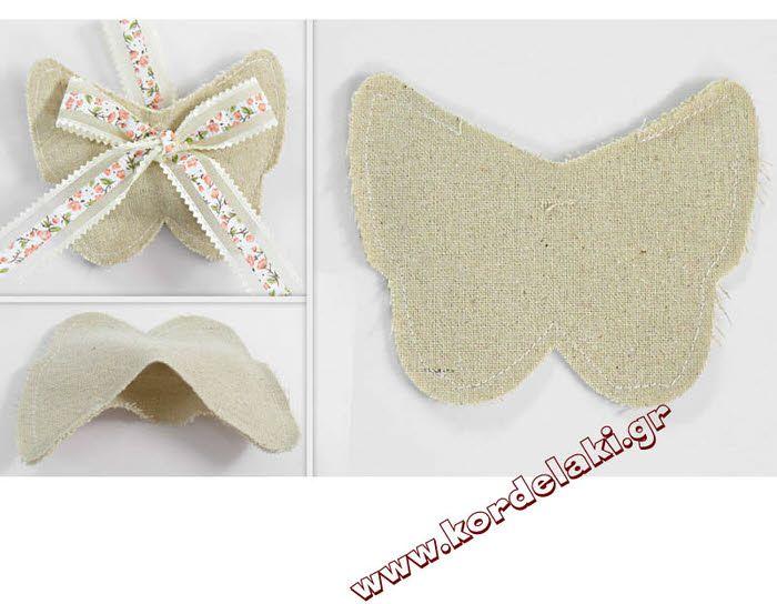 Πουγκί πεταλούδα χρώμα της άμμου για μπομπονιέρες γάμου βάπτισης και κάθε είδους διακόσμηση