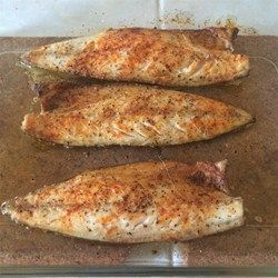 """The quick, simple, and delicious fish recipe is best with fresh-caught fish if possible."" http://allrecipes.com/Recipe/Broiled-Spanish-Mackerel/Detail.aspx?event8=1&prop24=SR_Thumb&e11=mackerel&e8=Quick%20Search&event10=1&e7=Home%20Page&soid=sr_results_p1i5"