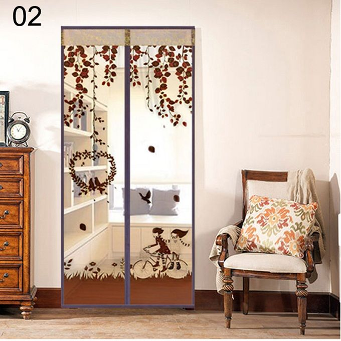 Magnetic Snap Door Window Curtain Tulle Mesh Screen Fly Bug Insect Mosquito Proof Net For Kitchen Home Decorati Magnetic Screen Door Mosquito Net Door Curtains
