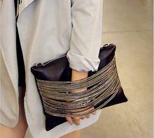 Decoração cadeia Saco Tendência 2016 das Mulheres Bolsa de Moda de Embreagem Saco Envelope Saco de Ombro Das Mulheres Sacos Do Mensageiro bolsa feminina sac(China (Mainland))