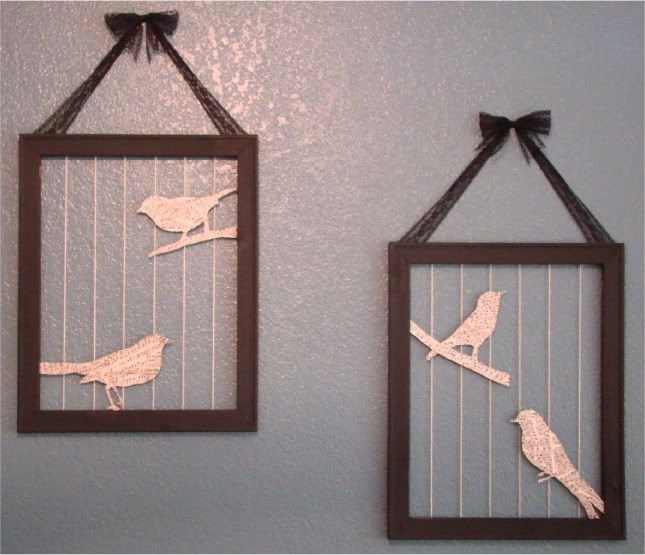 I really like this concept. If I was making it for myself, I would probably try something else random instead of the birds.