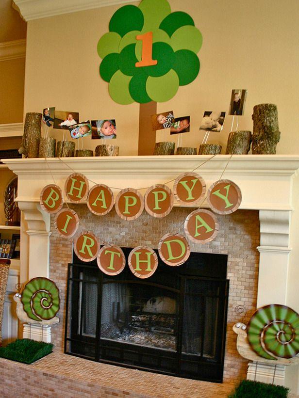 Woodland-theme birthday party