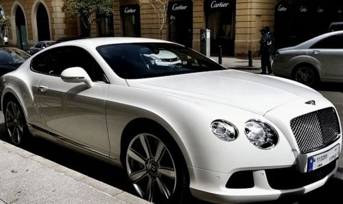 Bentley - this white Bentley coupe is just jaw-dropping.