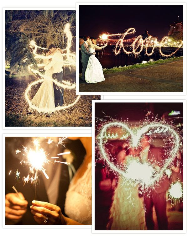 Sparkle like the Stars You Are – Wedding Sparklers Ideas to Make You Smile