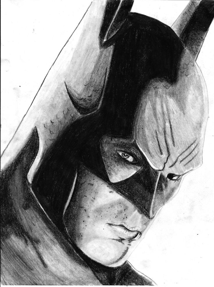Batman arkham city drawings in pencil