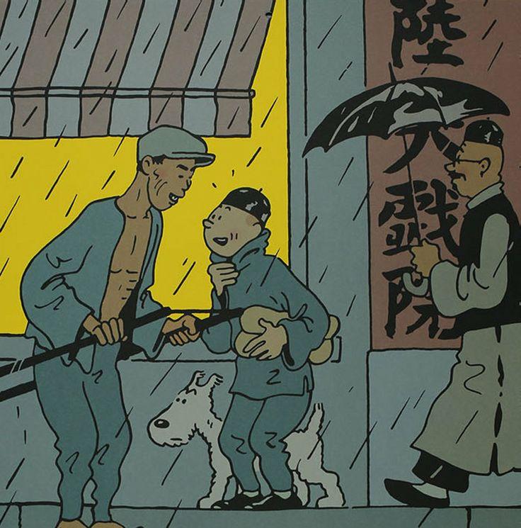 Mauvais temps en Chine Hergé