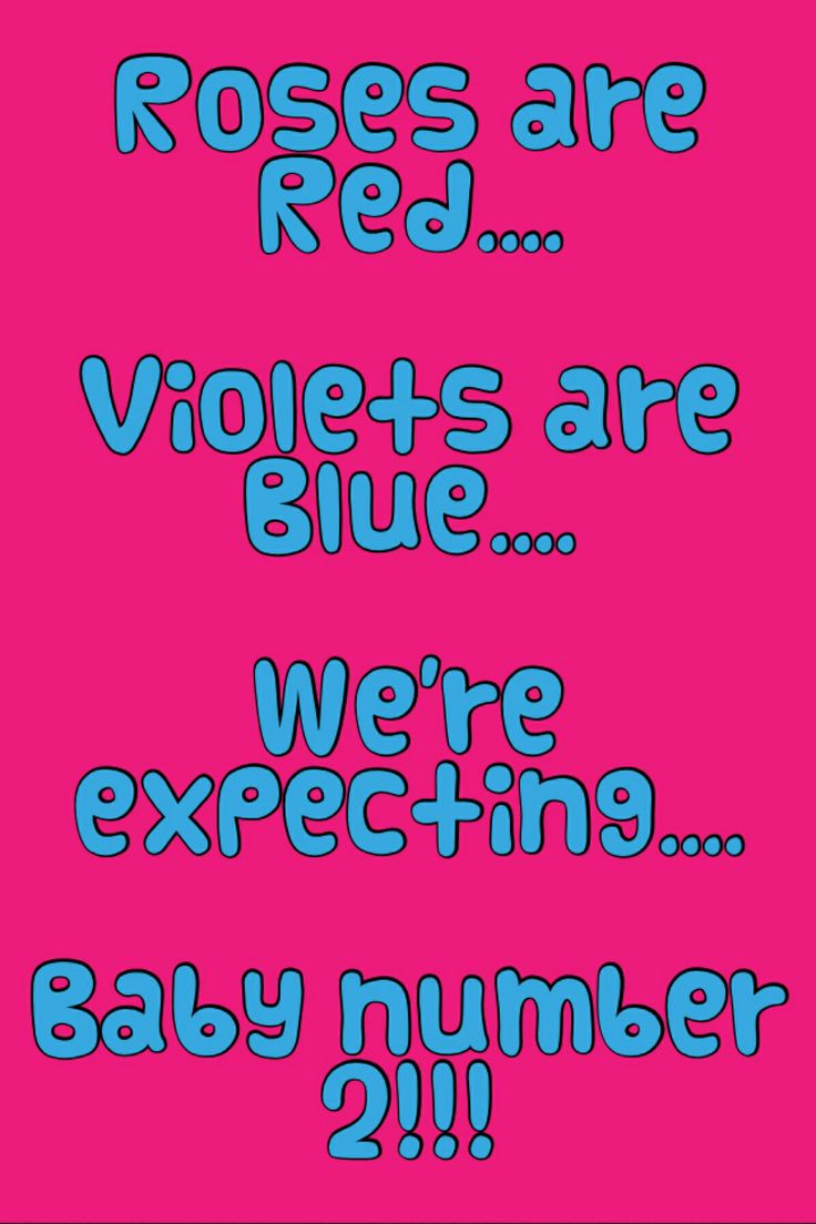 Second baby poem announcement
