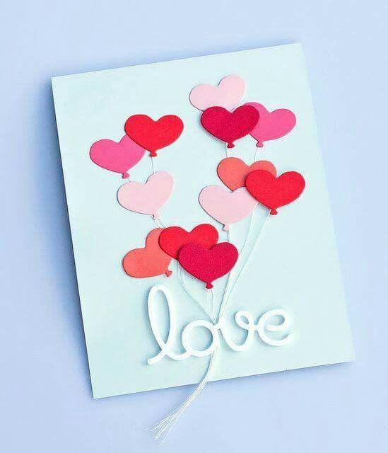 Как сделать открытку своими руками на день влюбленных