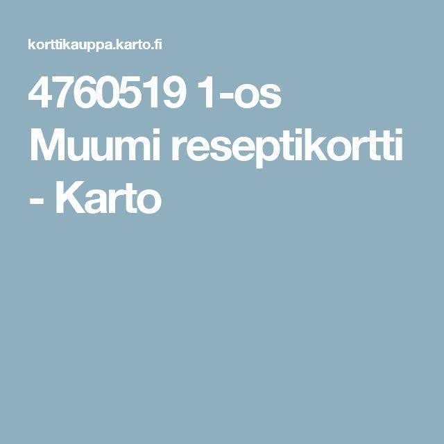 4760519 1-os Muumi reseptikortti - Karto