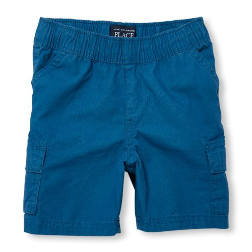 s Toddler Boys Pull-On Woven Cargo Shorts - Blue - The Children's Place