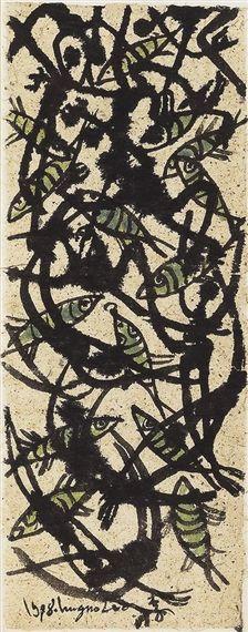 Ung-no Lee(Korean : 이응노, 1904-1989), Untitled, 1988