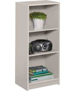 Maine Half Width Small Extra Deep Bookcase Putty 17 Size H91 5