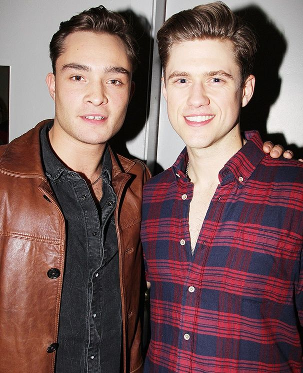 Aaron Tveit and Ed Westwick?! Too much mancandy at once.