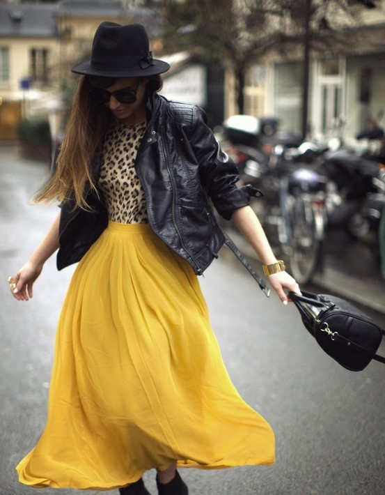 inspiration for my new yellow maxi skirt (I have this exact skirt)