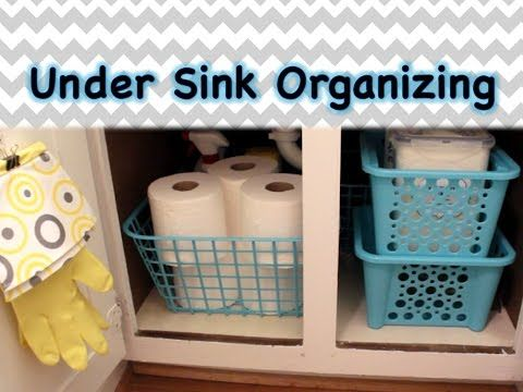 Organize Under Your Sink Entirely From The Dollar Tree