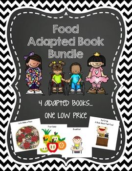 Want to pick up several adapted books in a related theme? This is my food bundle, perfect for teaching a unit covering all kinds of food -- breakfast, fast food, fruit and pizza.  Designed for young children ages 3-5 with autism and/or intellectual delays, Miss Kim Designs adapted books are a five-twelve page book (please see individual book descriptions) that come in a printable .pdf file.