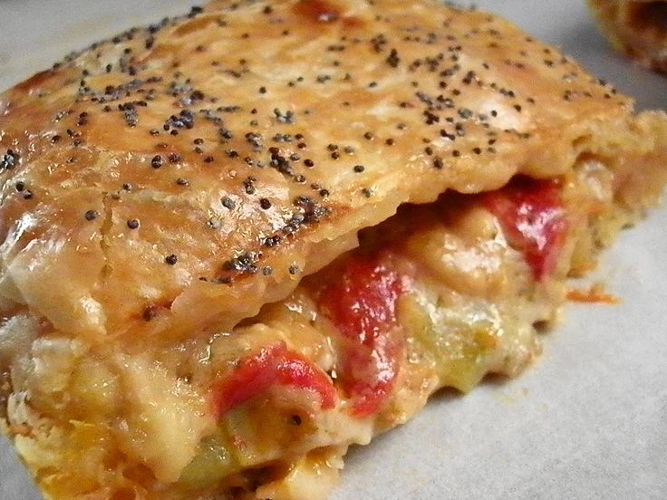 Piperopita, green peppers and feta cheese pie