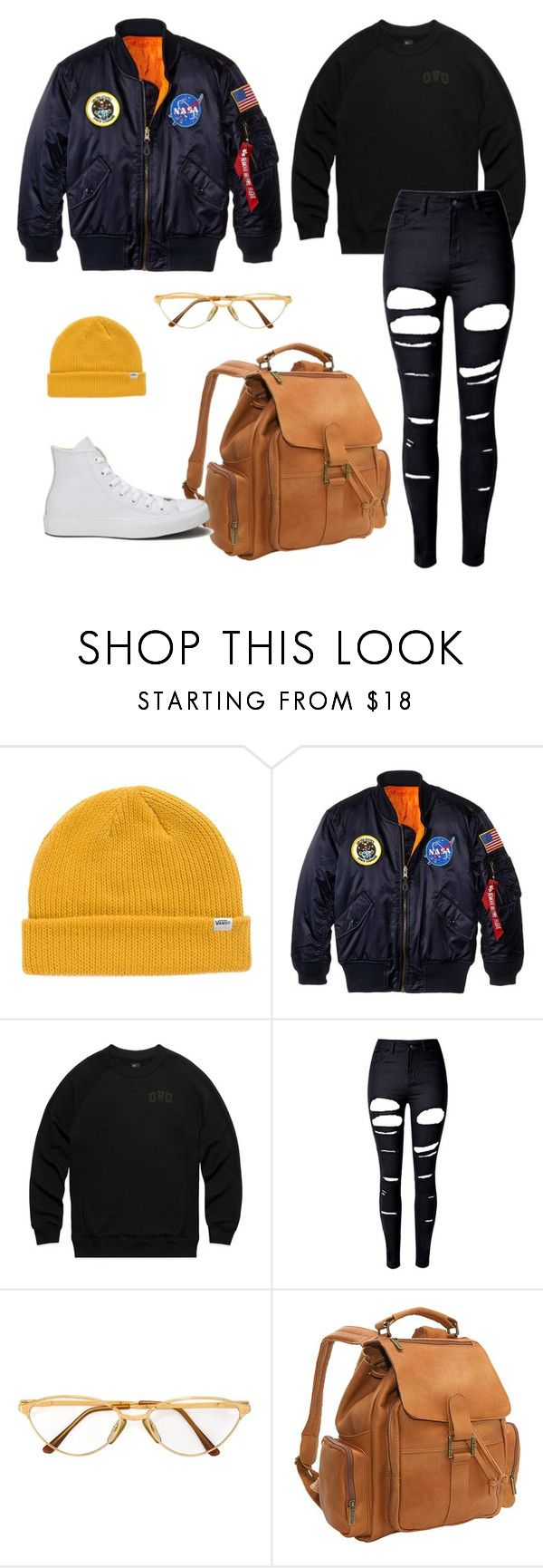"""RUNCH#11"" by celine-gero ❤ liked on Polyvore featuring Vans, Alpha Industries, WithChic, Persol, Le Donne and Converse"