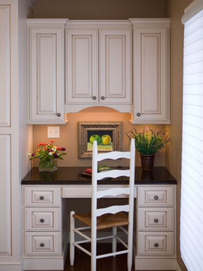 27 best kitchen desks images on pinterest kitchen desks for Small office kitchen