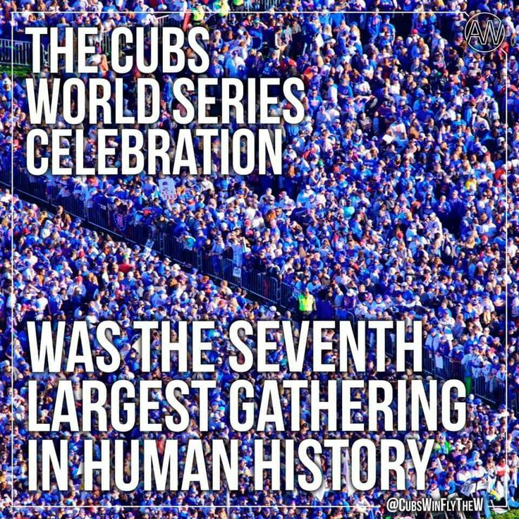 The Cubs World Series celebration was the seventh largest gathering in human history!