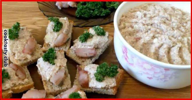 Ингредиенты: 250 г филе сельди 180 г нежирной сметаны 3 яйца, отваренных вкрутую 1 луковица-шалот 1/2 чашки крошек белого хлеба пучок укропа Приготовление: Обжариваем хлеб на сухой сковороде до золотистого цвета. Яйца крошим мелко. Селедку чистим, филируем и измельчаем вместе с луком в блендере. Добавляем сухари, яйца, мелко нарубленный укроп и сметану, перемешиваем, добавляем черный …