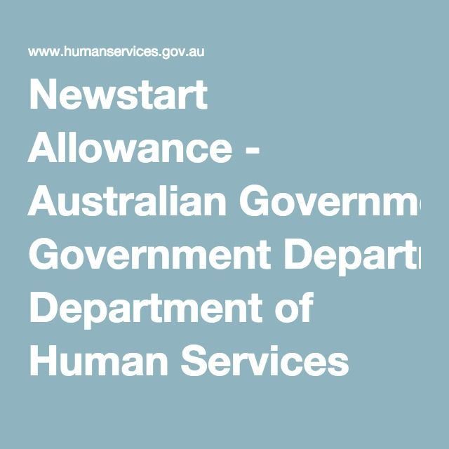 Newstart Allowance - Australian Government Department of Human Services