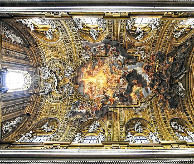 Churches Of Rome: The Beauty Of The Ceilings Of The City On Seven Hills | Bored Panda
