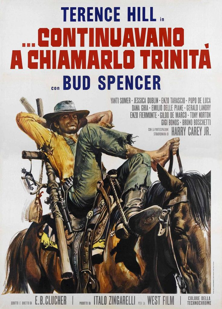 THEY STILL CALL ME 'TRINITY' (1971) - Terence Hill, Bud Spencer & Harry Carey Jr. - Italian Movie Poster.