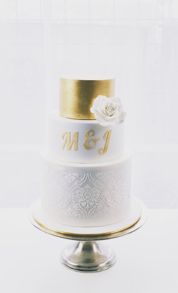 Three-Tier Golden Elegance