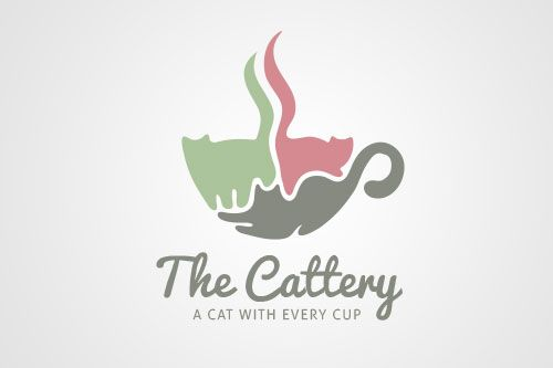 [one_half] Company: Personal project Project: Cat Cafe logo…