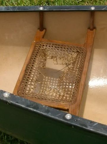 Fix your #canoe seats with seat caning.