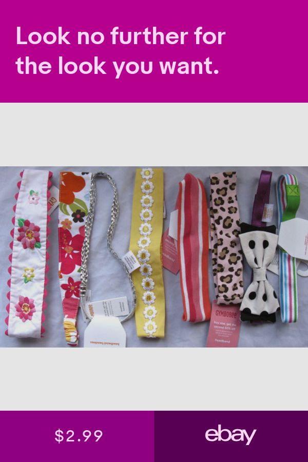 Gymboree Your Choice of Soft Headbands NEW Daisies Kitty Aloha Seaside Posies