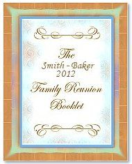Family Reunion Keepsake History (Memory) Book. A 10 page template document in .doc format.  Page 1 Cover Page, Page 5 Outline Of Reunion Activities, Page 2 Chairperson, Page 6 Dinner Banquet Program, Page 3 Local Official Welcome Letter, Page 7 In Memoriam, Page 4 Our Family History,   Page 8 Family Business Cards,  Page 9 Family Address Directory, Page 10 Acknowledgements.  Part of Fimark's Family Reunion Planner Social web app.