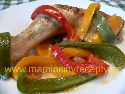 Kuře dušené s paprikou