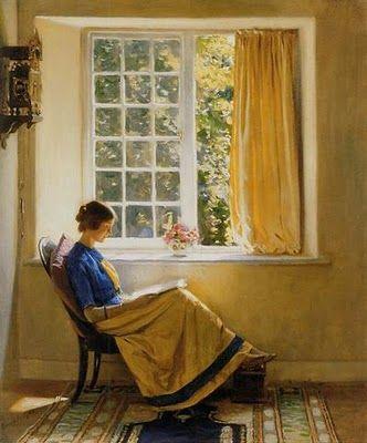 """Morning Sun"" by Harold Knight, 1874-1961 English painter"