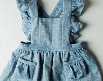 Ayla bambino vestito scamiciato  Vintage ragazze Dress-2T