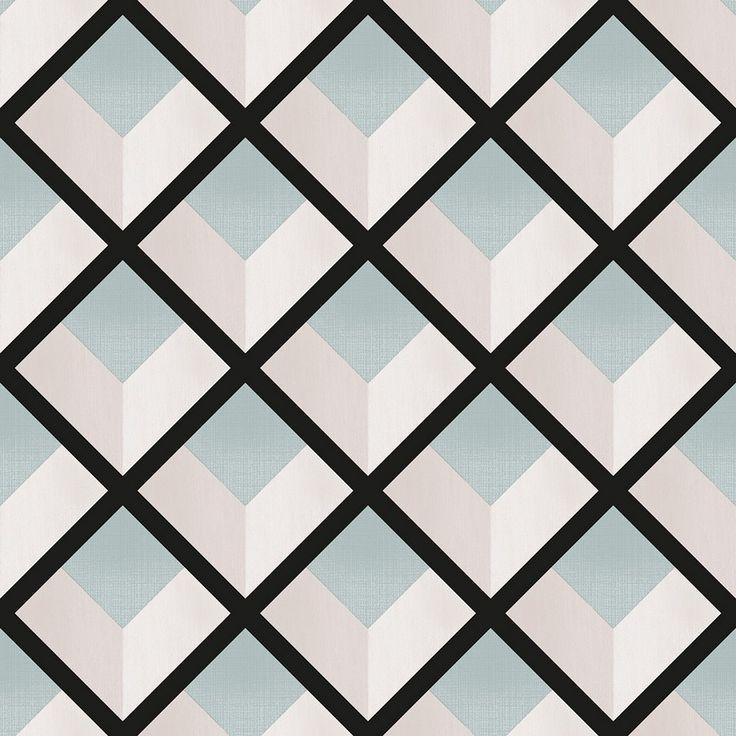 66 best papel pintado geom trico y 3d images on pinterest - Papel pintado 3d ...