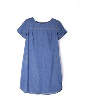 short sleeve denim tunic
