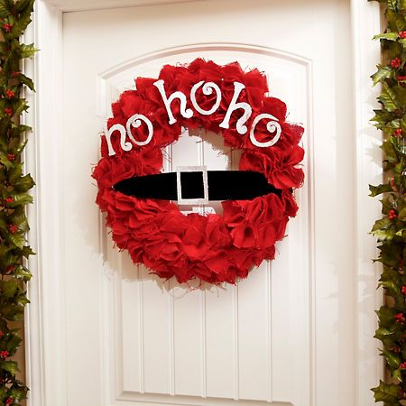 Red Jute Santa Belt Wreath | Kirklands