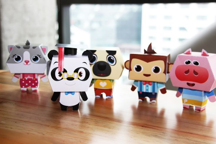 Look how cute these guys are! You can download our papercraft template through our blog and make your very own Dr. Panda character! http://drpandagames.com/dr-pandas-carnival-a-papercraft-inspired-world/