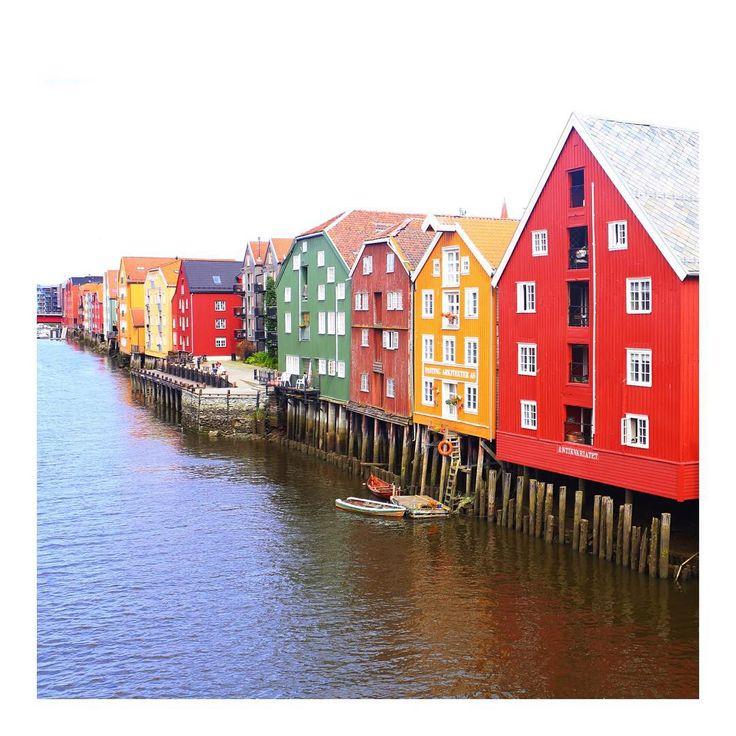 """Miss this beautiful city☀️ #Trondheim"""